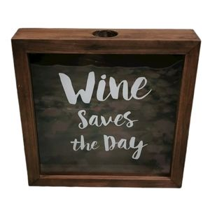 MCS Wine Saves The Day 10x10 Wooden Shadow Box